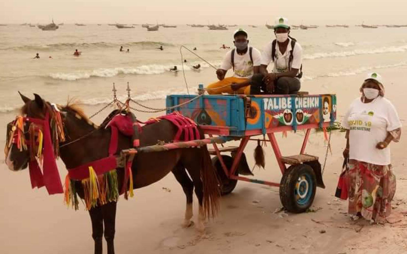 Pferdekutsche am Strand
