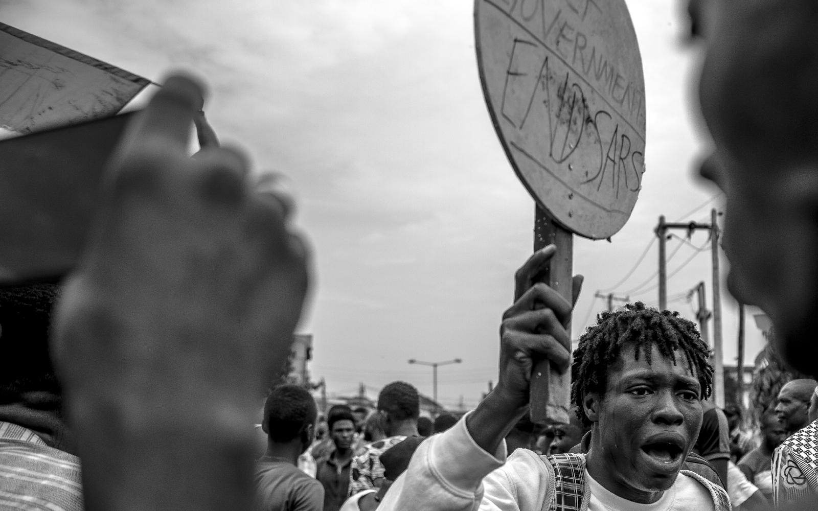 Nigeria Protests Crowd